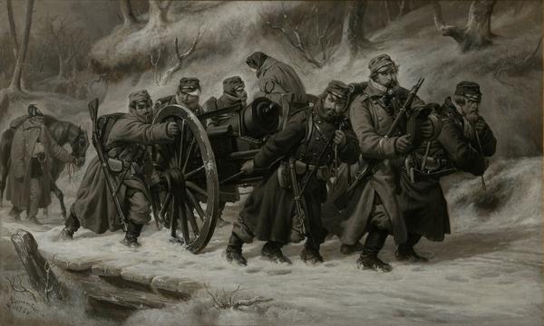 Rueckzug aus dem Danewerk 5 6  Februar 1864