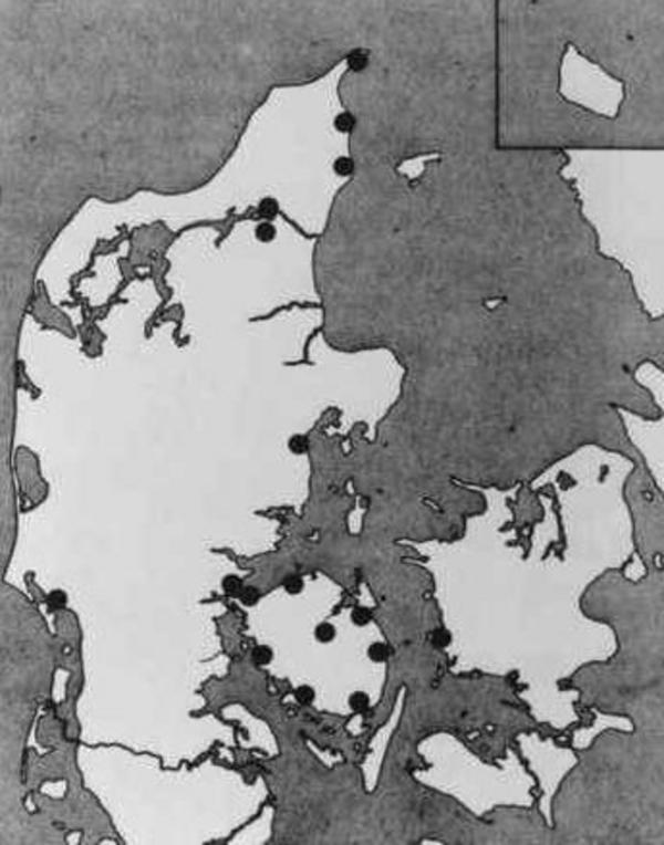 B   Auguststrejken 1943  landkort med afmaerkninger  Ukendt kunstner