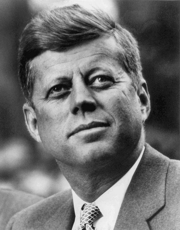 John F  Kennedy  White House photo portrait  looking up  White House Press Office WHPO  Jbarta  2013  CC PD