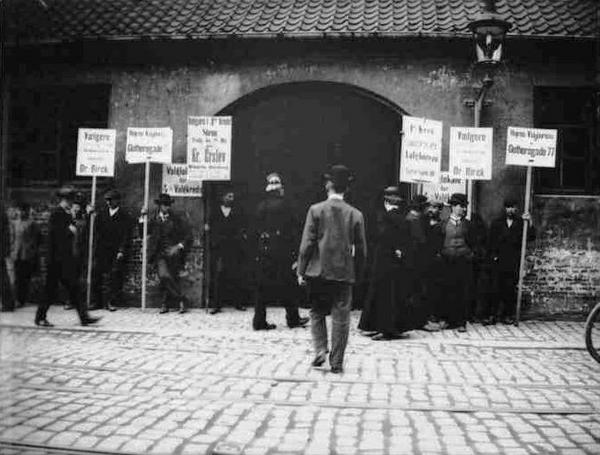 Valg paa Gothersgade  Ludvig Jensen  1906