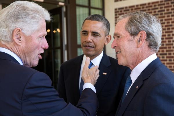 Three U S  presidents in 2013