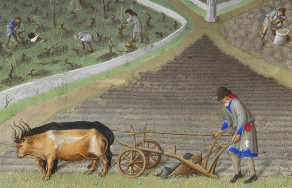 Detail of Les tres riches heures   March