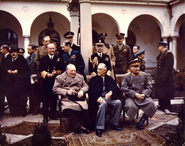 Yalta Conference 1945 Churchill  Stalin  Roosevelt  1