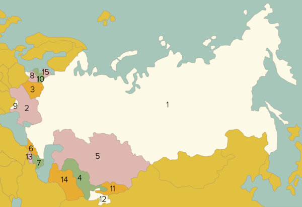 USSR kort