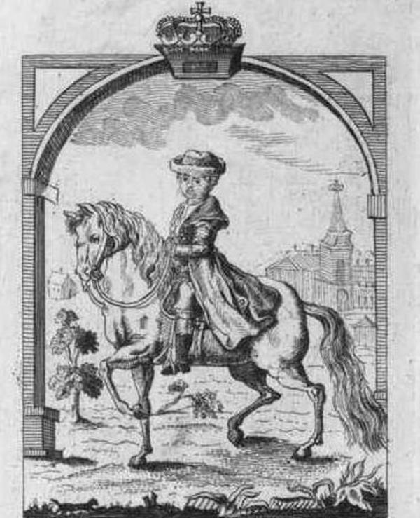 Caroline Mathilde til hest