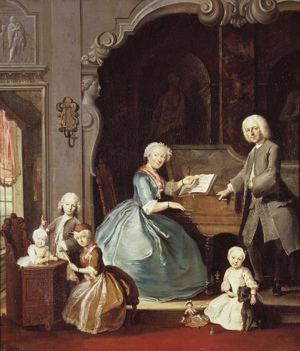 Familie Cornelis Troost  1739 Credit The Art Archive   DeA Picture Library   M  Carrieri  Ref AA671729