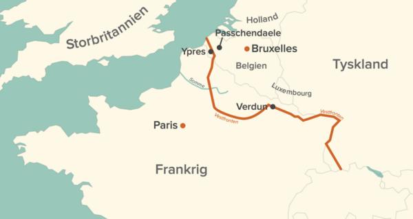 Kort over Vestfronten