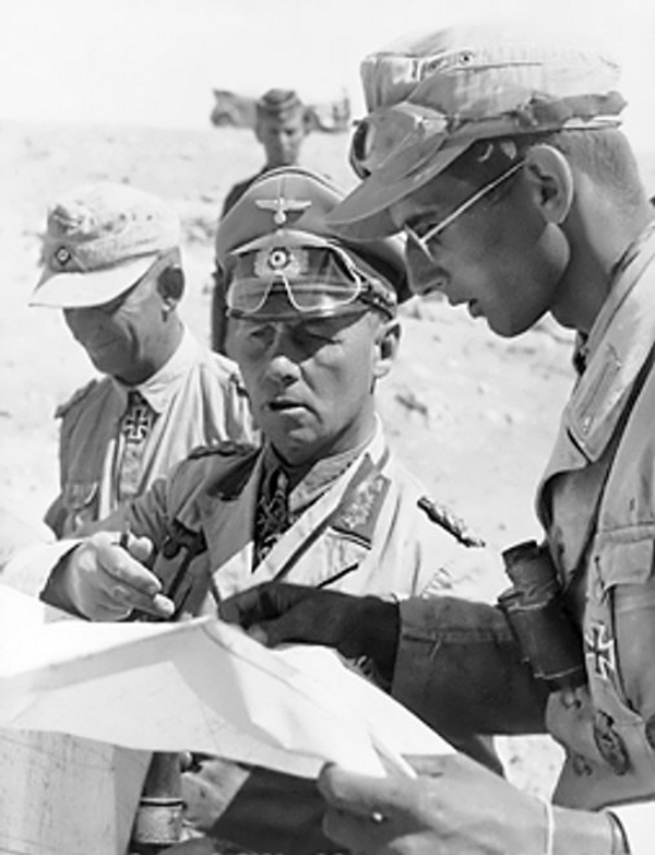 Rommel with his aides
