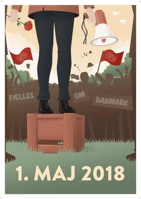 1 maj plakat 2018 socialdemokratiet