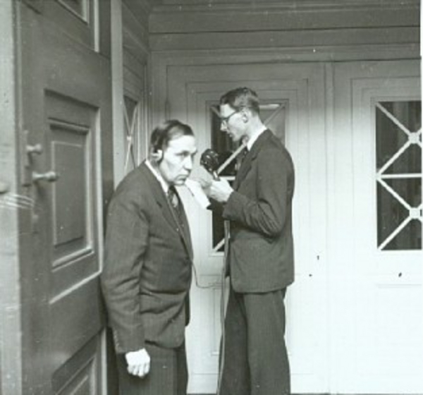 Radiotransmission direkte fra Chr  10  25 aars regeringsjubilaeum i 1937  KB Billedsamlingen DH008890