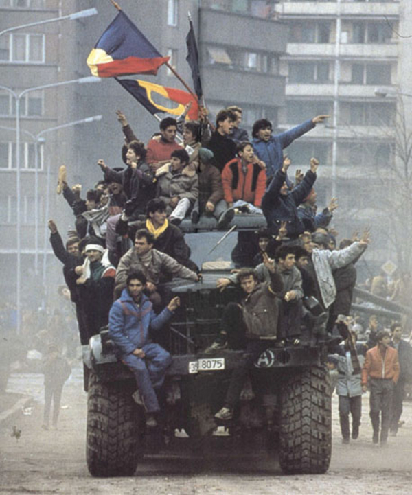 Romanian Revolution 1989 1 Denoel Paris  Wikimedia Commons