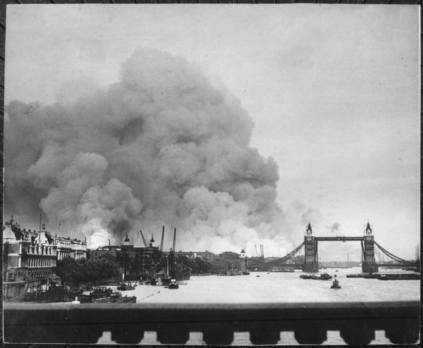 This picture  taken during the first mass air raid on London  7th September 1940  describes more than words ever      NARA   541917 tif