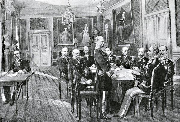 Christian den IX i Statsrdet kongernessamling