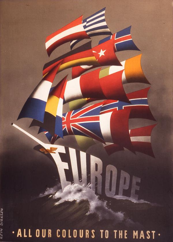 Europe Plan Marshall  Poster 1947